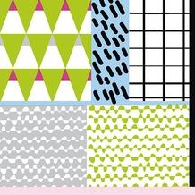 Duni Tissue Servietten 33 x 33 cm Poppy Mix, 20 Stück