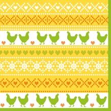 Duni Tissue Servietten Easter Knit 33 x 33 cm 20 Stück