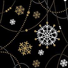 Duni Tissue Servietten Snow Necklace Black 24 x 24 cm 20 Stück