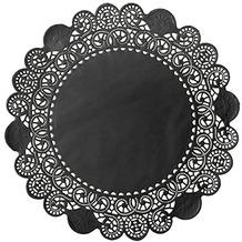 Duni Torten-Spitzen rund schwarz, ø 19 cm, 250 Stück