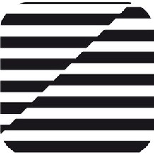 Duni Untersetzer eckig, 8,5x8,5cm Black & White, 250 St.