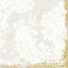 Duni Zelltuch-Servietten 3 lagig 1/ 4 Falz 33 x 33 cm Royal White, 50 Stück