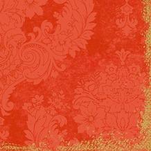 Duni Zelltuch-Servietten 3 lagig 1/ 4 Falz 40 x 40 cm Royal Mandarin, 250 Stück