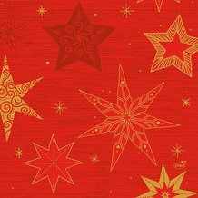 Duni Zelltuchservietten 33 x 33 cm Star Stories Red