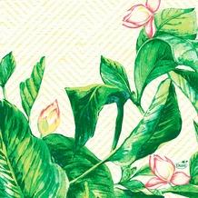 Duni Zelltuchservietten Banas 33 x 33 cm 1/ 4 Falz 50 Stück