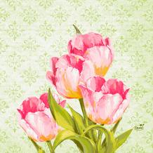 Duni Zelltuchservietten Love Tulips 33 x 33 cm 250 Stück