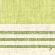 Duni Zelltuchservietten Raya kiwi 33 x 33 cm 1/ 4 Falz 50 Stück