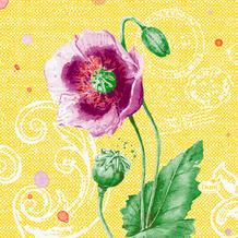 Duni Zelltuchservietten Spring Lilies 24 x 24 cm 50 Stück