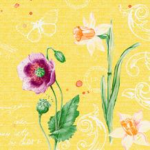Duni Zelltuchservietten Spring Lilies 40 x 40 cm 250 Stück