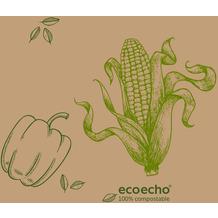 Duni Zelltuchservietten Veggies 33 x 33 cm 50 Stück
