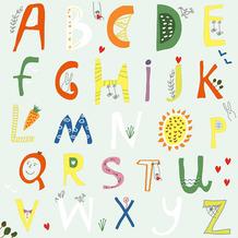 Paper+Design Servietten Tissue Alphabet 33 x 33 cm 20er