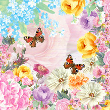Paper+Design Servietten Tissue Butterfly Charm 24 x 24 cm 20er