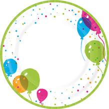 Paper+Design Teller Pappe Splash balloons ø 22 cm 10er