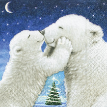 Paper+Design Servietten Tissue 33 x 33 cm Polar bear kiss 20er Pack