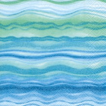 Paper+Design Servietten Tissue Blue waves 25 x 25 cm 20er