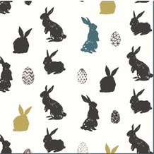 Paper+Design Servietten Tissue Bunny craze 33 x 33 cm 20 Stück