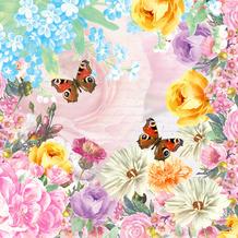 Paper+Design Servietten Tissue Butterfly charm 33 x 33 cm 20 Stück