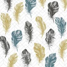 Paper+Design Servietten Tissue Coloured feathers 24 x 24 cm 20 Stück