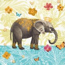 Paper+Design Servietten Tissue Elephant garden 33 x 33 cm 20er