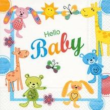 Paper+Design Servietten Tissue Hello baby 33 x 33 cm 20er