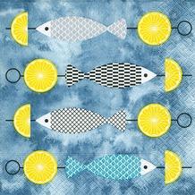 Paper+Design Servietten Tissue I like fish 33 x 33 cm 20er
