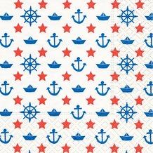 Paper+Design Servietten Tissue Navy white 25 x 25 cm 20er