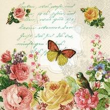 Paper+Design Servietten Tissue Portrait of butterfly 25 x 25 cm 20er