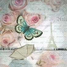 Paper+Design Servietten Tissue Romance in Paris 33 x 33 cm 20er