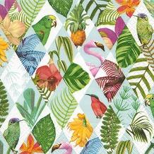 Paper+Design Servietten Tissue Tropical diamonds 33 x 33 cm 20er