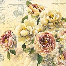 Paper+Design Servietten Tissue Vintage roses 33 x 33 cm 20er