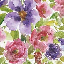 Paper+Design Servietten Tissue Watercolour garden 25 x 25 cm 20er