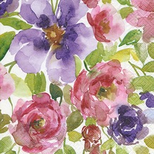 Paper+Design Servietten Tissue Watercolour garden 33 x 33 cm 20er