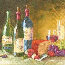 Paper+Design Servietten Tissue Wine store 33 x 33 cm 20er
