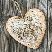 Paper+Design Servietten Tissue Wooden heart 33 x 33 cm 20er