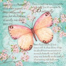 Paper+Design Tissue Servietten Butterfly Poetry 33 x 33 cm 20 Stück