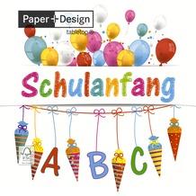 Paper+Design Tissue Servietten Schulanfang 33 x 33 cm 20 Stück