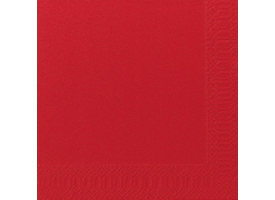 Duni Servietten 3lagig Tissue Uni rot, 33 x 33 cm, 250 Stück